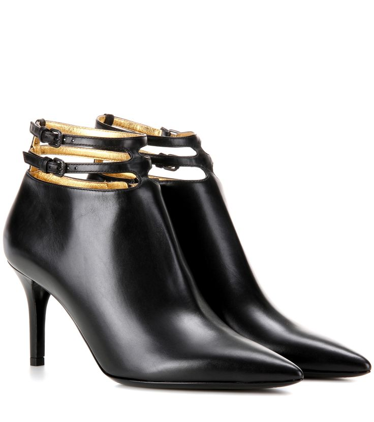 Bottega Veneta Leather 80 ankle boots Black              $129.00
