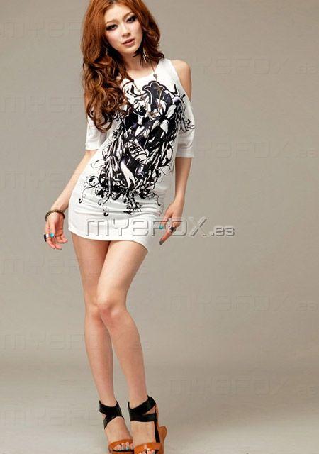 2013 Nueva blusa blanca con mangas cortas €15.99