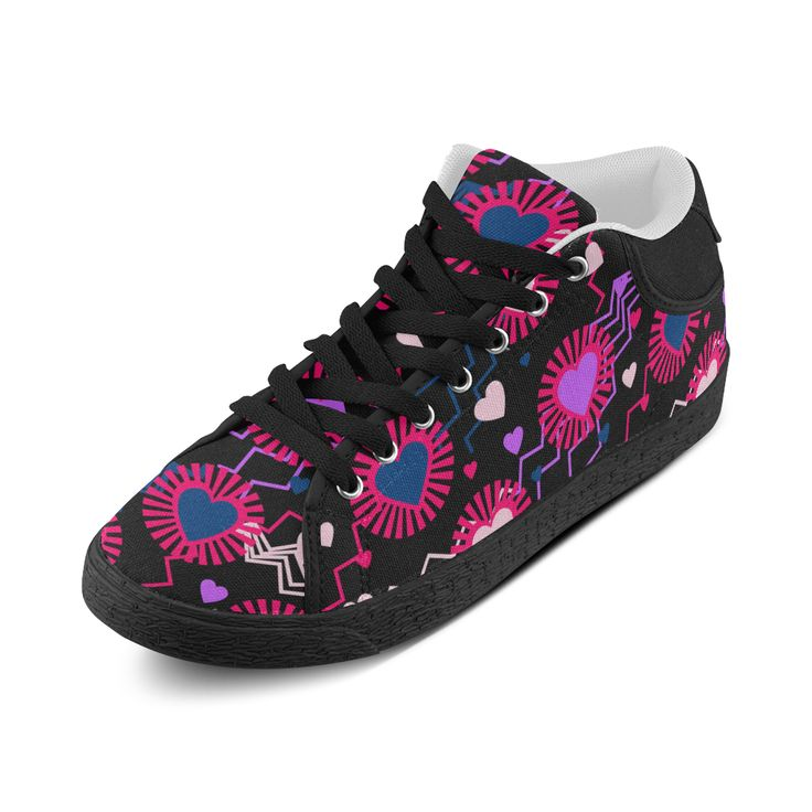Punk Rock Hearts Women Chukka Canvas Shoes