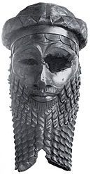 Bronze head of an Akkadian, probably Sargon, National Museum of Iraq.  Sargon ruled over an empire that reached westward as far as the Mediterranea Sea and perhaps Cyprus, northward as far as the mountains, eastward over Elam and as far south as Oman.  He purportedly reigned for 56 years in the 24th century BC.