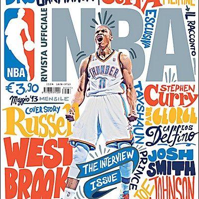 Exhibit - Rivista Ufficiale NBA #magazine #design #typography