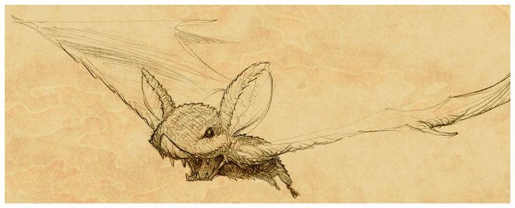 Fluffy Bat Doodle by MisterBlackwood.deviantart.com on @deviantART