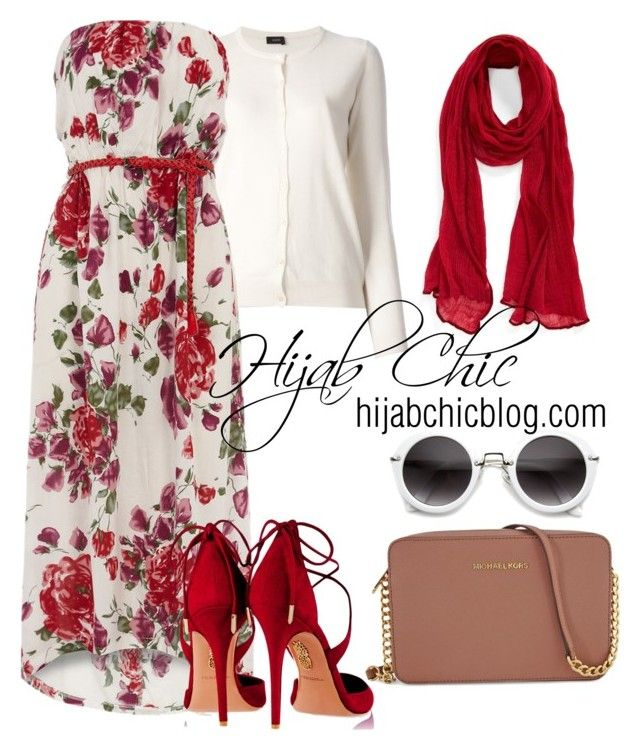 """hijabchicblog.com"" by hijab-chic on Polyvore featuring Roffe Accessories, Joseph, Dorothy Perkins, Aquazzura and Michael Kors"
