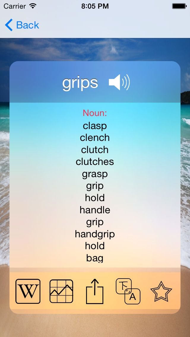 Learn A Word - Dictionary Reimagined   Features: • Apple Watch App shows a comprehensive definition and a complete thesaurus of the word.  • Apple Watch App also supports search by dictation and Glance view. • Apple Watch App also supports search via dictation. • Select a starting letter(A-Z) and the app automatically finds a word which starts from that letter. • See a comprehensive definition of a word. • Add a word to Favorites and get to it instantly when ever you need it later. • Lookup…