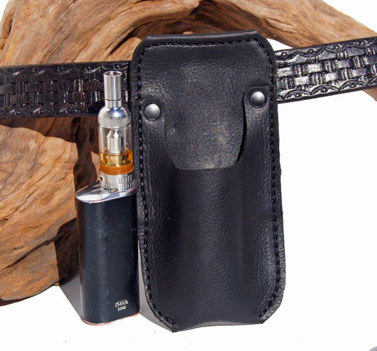 Excited to share the latest addition to my #etsy shop: Vape case with belt clip* Ecigerette holster * Eleaf IStick mod * Genuine Kodiak Leather * Belt pouch * Vape Holster * Gift box * E Cig Case #accessories #case #cigarettecase #vapeholder #ecigpouch #ecigarette #ecigholder #electroniccigarette #beltpouch