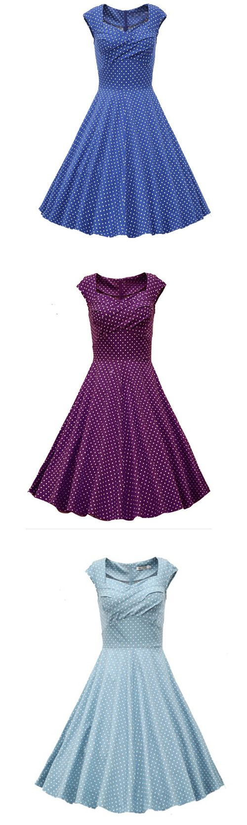 Women's Going out Vintage Cute A Line Polka Dot Sweetheart Knee-length Dress