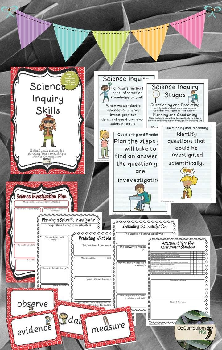 A great pack that covers the scientific inquiry process, with explicit links to the Australian Curriculum.