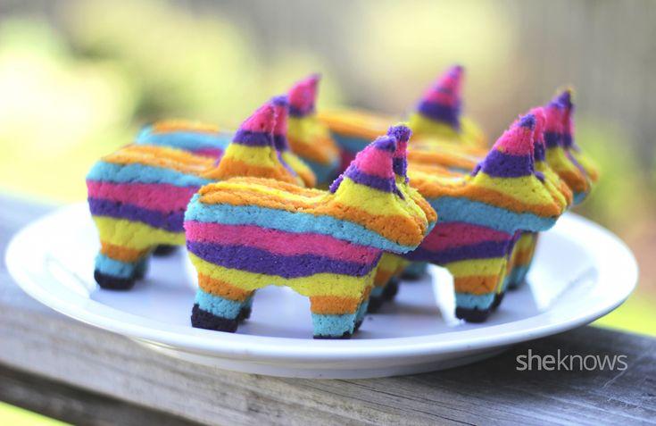 Piñata sugar cookies with a surprise inside — olé!