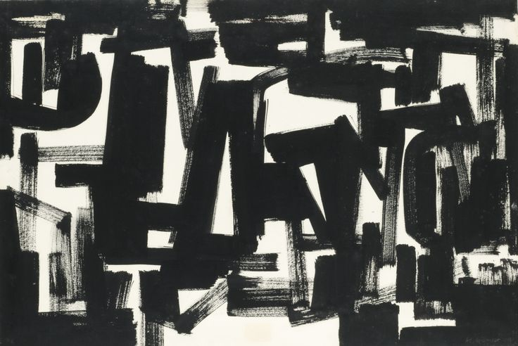 thunderstruck9:  Ad Reinhardt (American, 1913-1967), Untitled, 1950. Ink on paper, 27.5 x 41 in.