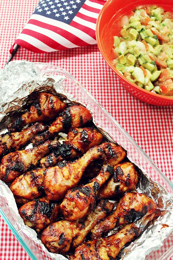 4th of July Menu - 50 Stars BBQ Chicken - IHOD