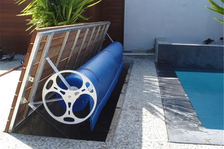Hideaway Roller With Timber Decking On Opening Lid Poolcovers.com.au