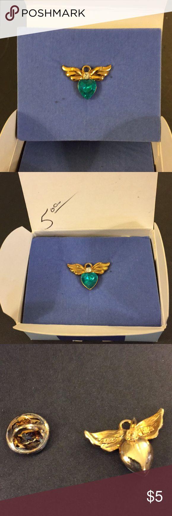 Avon angel December birth stone pin Tiny angel birthstone pin with simulated blue topaz, original box, never worn Jewelry Brooches