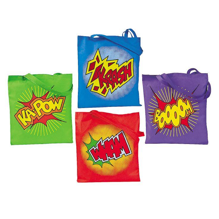 Large Superhero Tote Bags - OrientalTrading.com