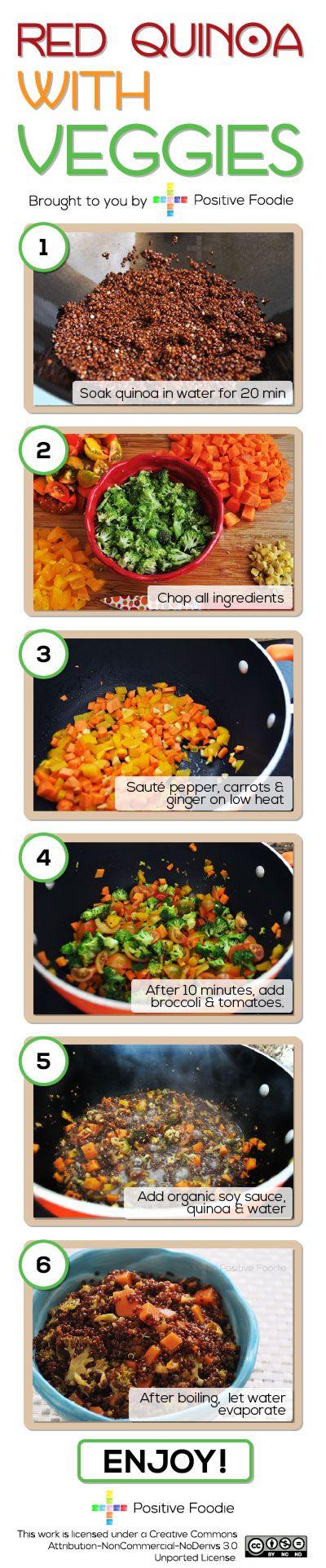 Red Quinoa with Veggies