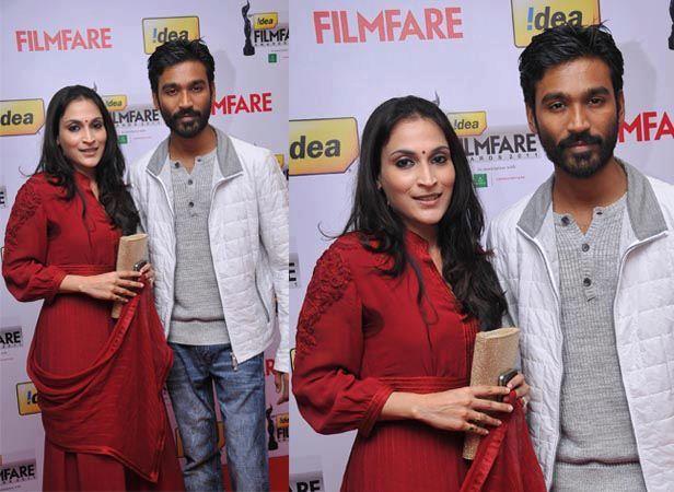 Aishwarya & Dhanush at Filmfare Awards