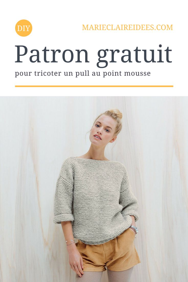 This Pull Pour Au Knit Mousse Un Patron Point Tricoter Gratuit 6zFqUIS