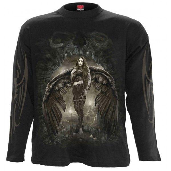 Camiseta gótica ángel caido Spiral.