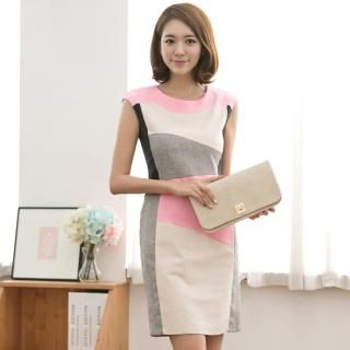 Buy 'ode' – Color-Block Linen Dress' at YesStyle.com plus more South Korea items and get Free International Shipping on qualifying orders.