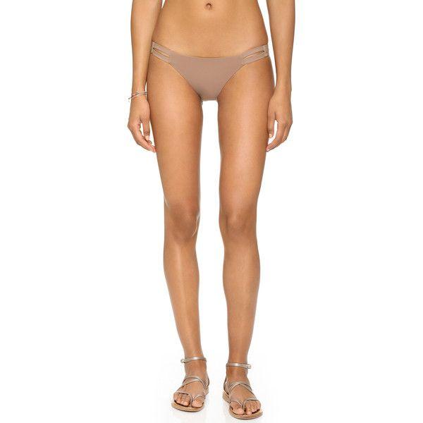 Vitamin A Neutra Hipster Bottoms ($55) ❤ liked on Polyvore featuring swimwear, bikinis, bikini bottoms, sandstone, cut out bikini, hipster bottom bikini, hipster bikini bottom, vitamin a swimwear and cut-out swimwear