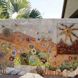 unusual phoenix home and garden. Center section of garden wall mosaic in Phoenix  Arizona Garden by Nancy Low Featured August 2013 Home magazine 136 best images on Pinterest Landscaping
