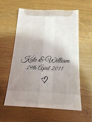 10 Personalised Confetti Favour Favours Treat Sweet Bags Vintage Wedding Party
