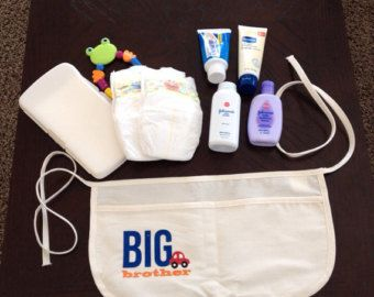 Big Brother kit for helping with rattle/teether, lotion, diaper/wipes, body wash, paci