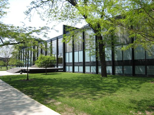 Crown Hall at the Illinois Institute of Technology in Chicago, designed by Mies van der Rohe in 1956. Widely regarded as Van der Rohe's masterpiece, Crown Hall is one of the most architecturally significant buildings of the 20th-century Modernist movement. Photo: Getty Conservation Institute