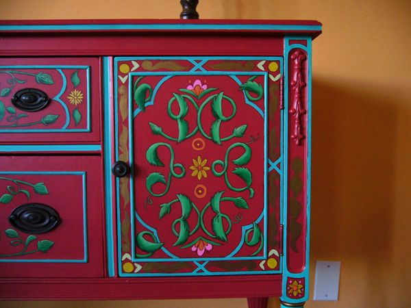 Mexican Painted Furniture Paint Technique In 2018 Pinterest And Hand