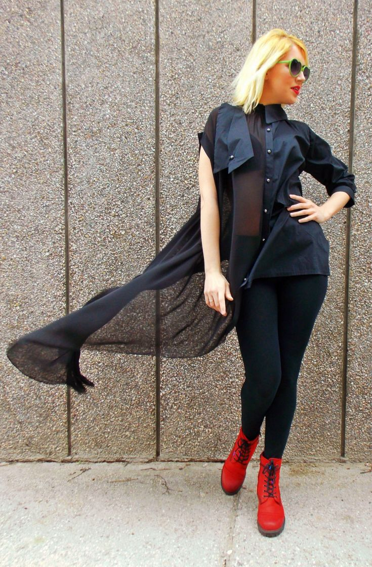 Just in: Black Asymmetrical Shirt with Strapless Top TT45, Loose Asymmetrical Shirt, Sheer Blouse, Deconstructed Black Top by TEYXO https://www.etsy.com/listing/226454404/black-asymmetrical-shirt-with-strapless?utm_campaign=crowdfire&utm_content=crowdfire&utm_medium=social&utm_source=pinterest