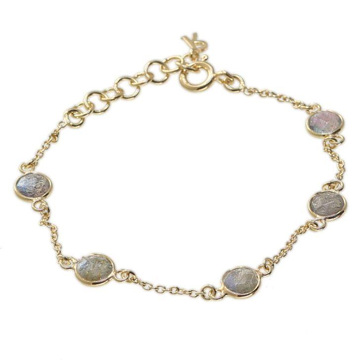 22 CT Gold Bracelet with Labradorite stone,£39, John Jenkins (Nyewood)