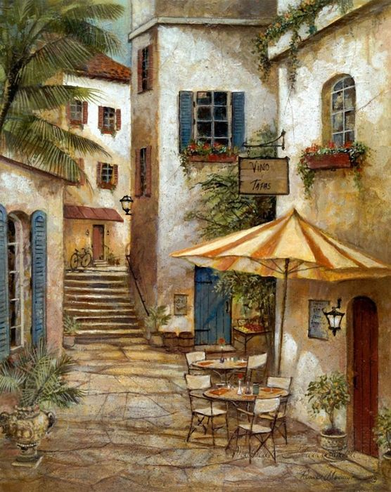 Ruane Manning~ Tapas And Wine, The Only Way In The Sunny Mediterranean To While Away The Time.