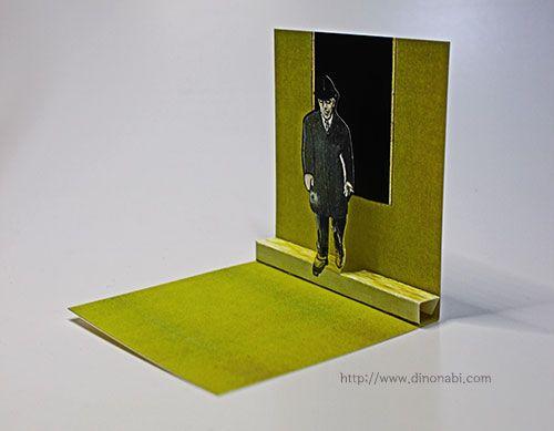 프란시스 베이컨 팝업카드 Francis Bacon pop up card Harold Wilson Lithograph