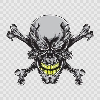 Alien skull sticker 02591