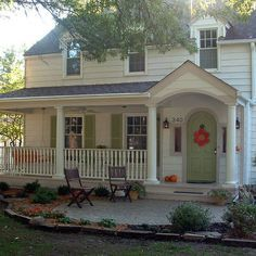 This house is a Garrison Colonial, Revival Style, meaning it is a second story that overhangs or projects from the first story. Description from pinterest.com. I searched for this on bing.com/images