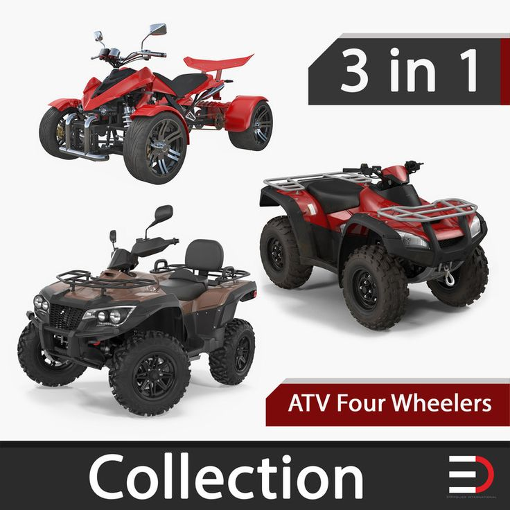 ATV Four Wheelers Collection 3D model