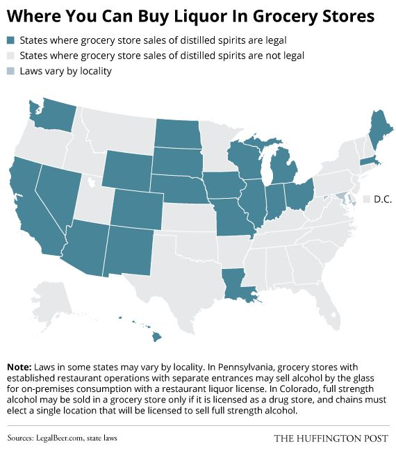 Here Are The Rules To Buying Alcohol In Each States Grocery Stores