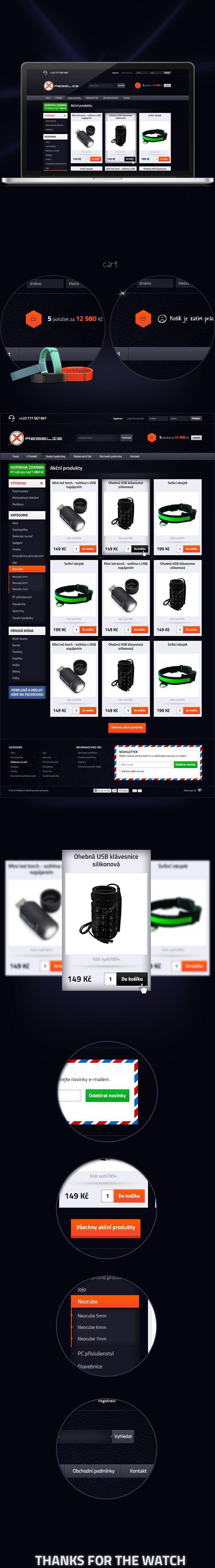 Rebelie.cz -Homepage by Visualcreative.cz , via Behance