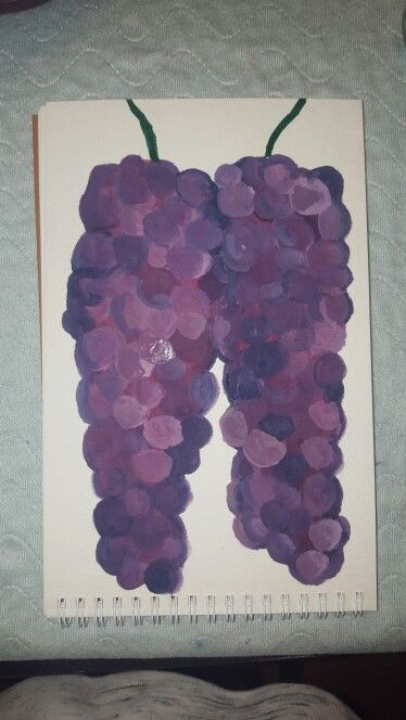 Flowers gone grapes haha watercolor