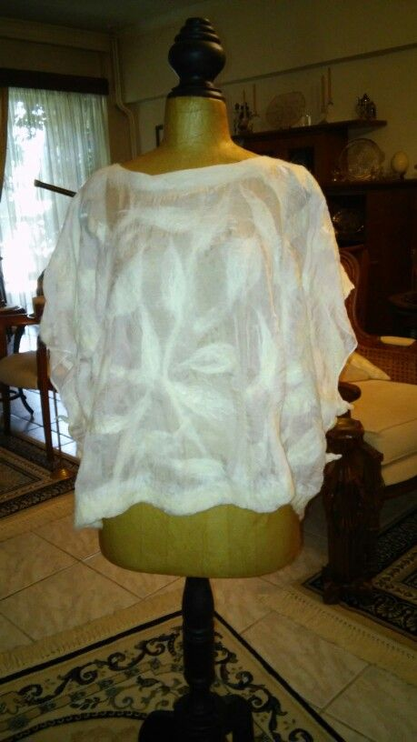 Pontso with wool and silk (nuno felting)