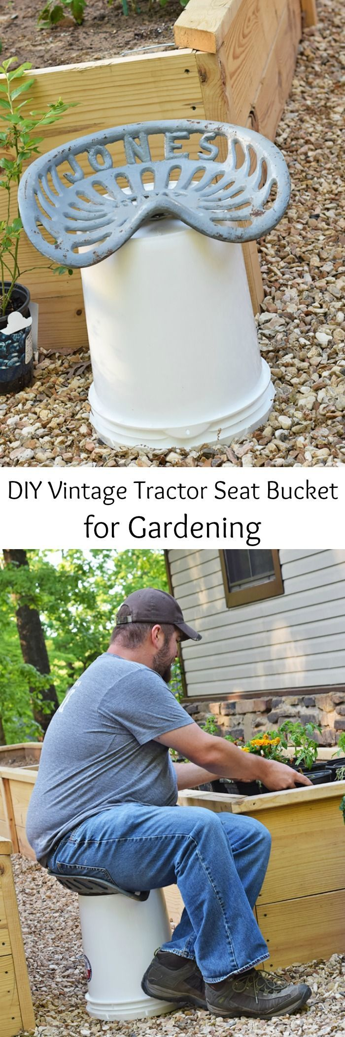 Learn How To Make Your Own DIY Vintage Tractor Seat Bucket Stool (or Jones  Rake Seat Bucket Stool), Perfect For Gardening And Homesteading.