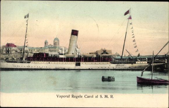 "Romanian Auxiliary Cruiser  ""SMR Regele Carol"", saw service in WWI."