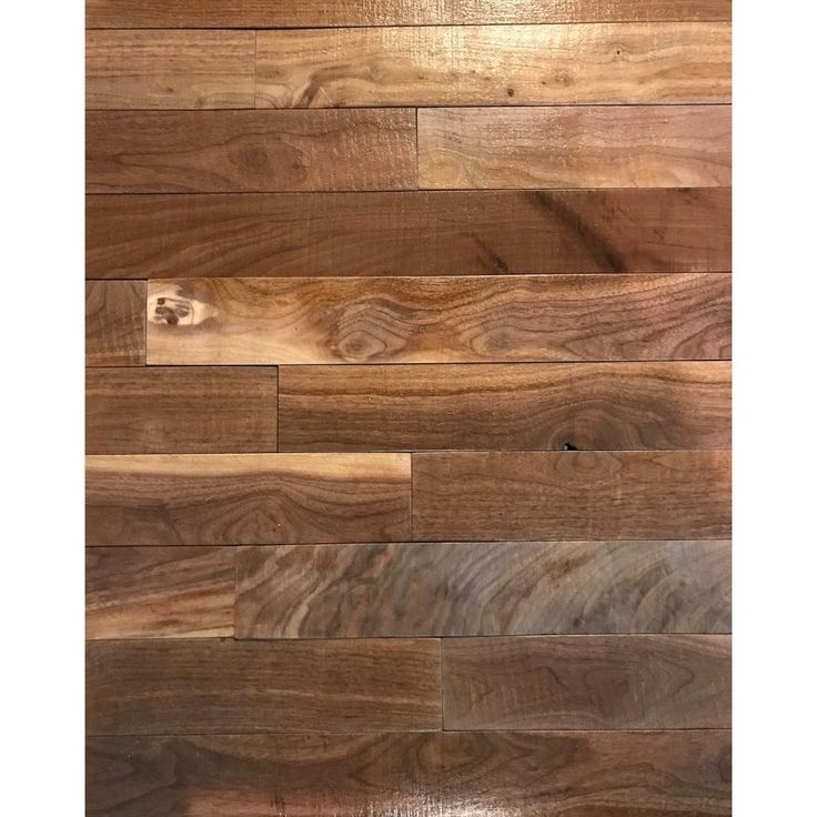 Shiplap Plank 0.5 in. H x 3.5 in. W x 12 in. 36 in. L Walnut Wood Wall Planks (10 sq. ft. / case)-PLANK-10-WAL - The Home Depot