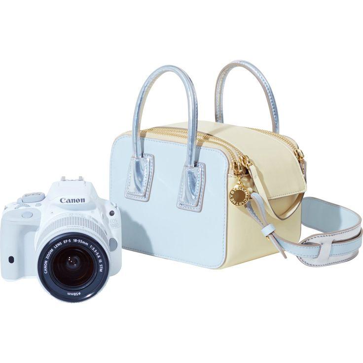 Canon EOS 100D bianca + obiettivo 18-55mm STM + borsa di Stella McCartney