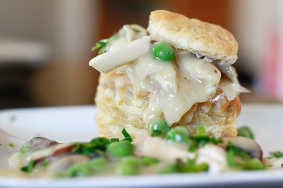 Is it vain to tag my mom's recipe? Chicken vol au vents. Read: chicken pot pie in pastry..... Not at all. Vol-au-vents need to make a BIG comeback.. People don't know what they're missing when it comes to a good beige buffet..