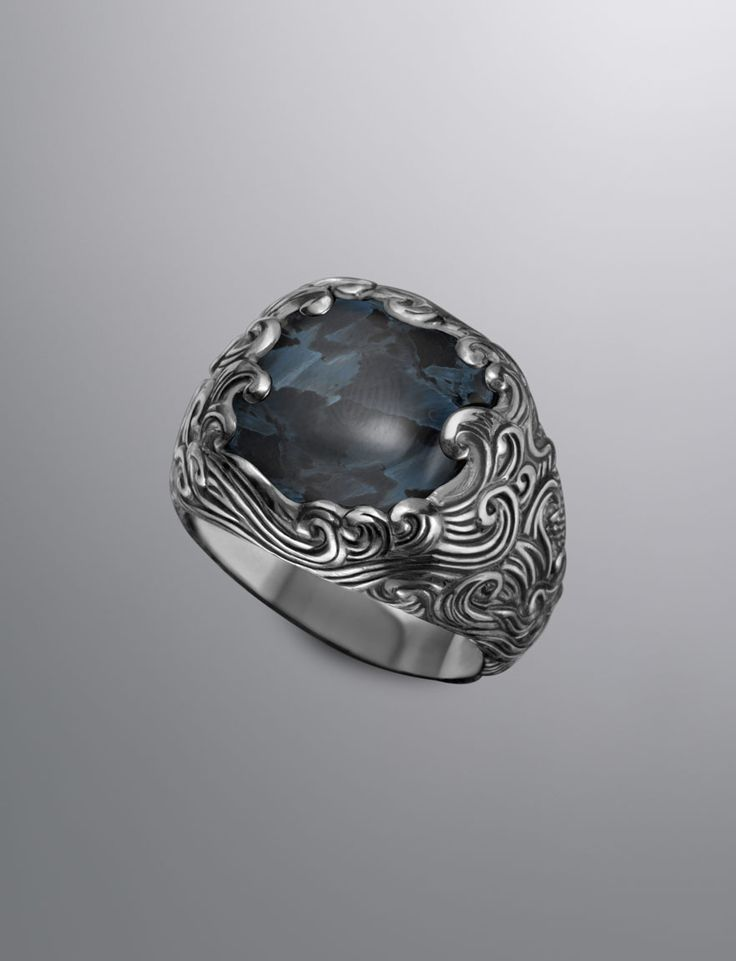 Waves Signet Ring, Pietersite. Just looking at it on your finger must be mesmerizing.