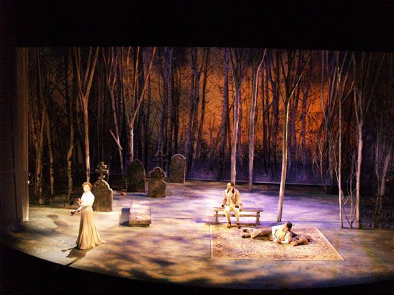 Raalph Funicello's stage design for The Cherry Orchard in Boston (2006)