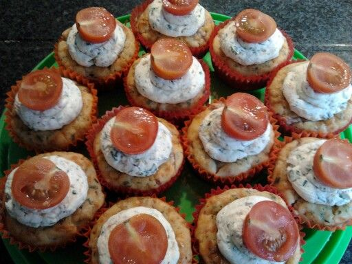 Hartige cupcakes met spek & kaas