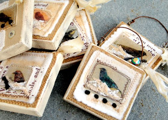 So cute, but where would you hang these tiny things up to be admired??  mini canvas art