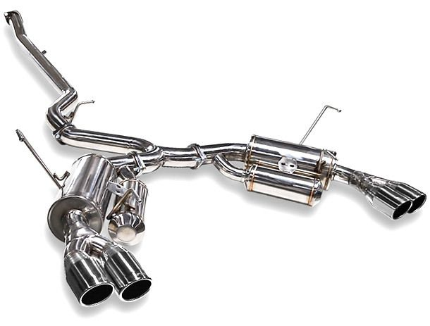 ARK GRiP Polished Tip Catback Exhaust for 2011-17 Subaru WRX & STi Sedan (SM1302-0110G)