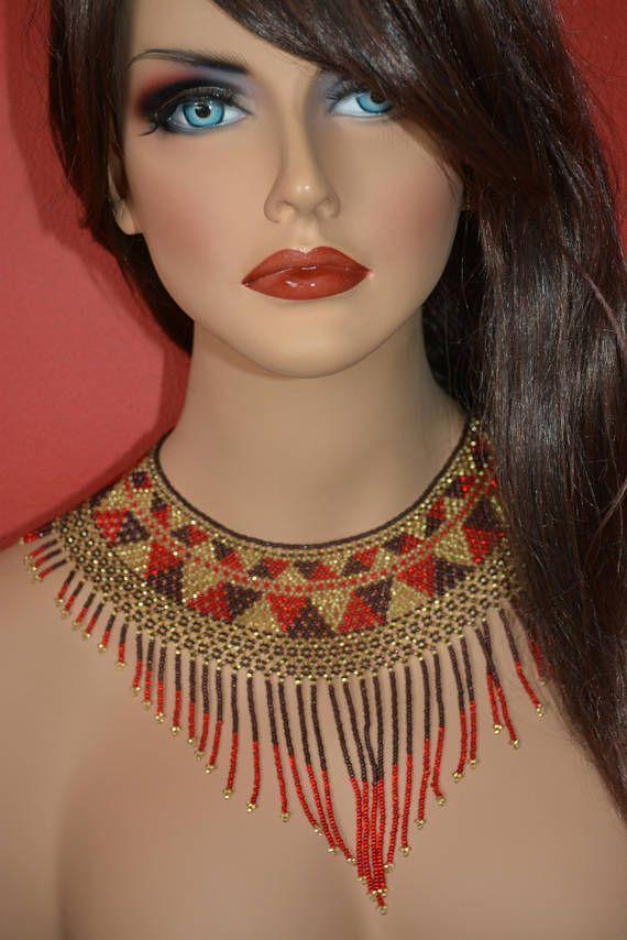 Elegante collar cuello raz flequillos de perlas de escombros